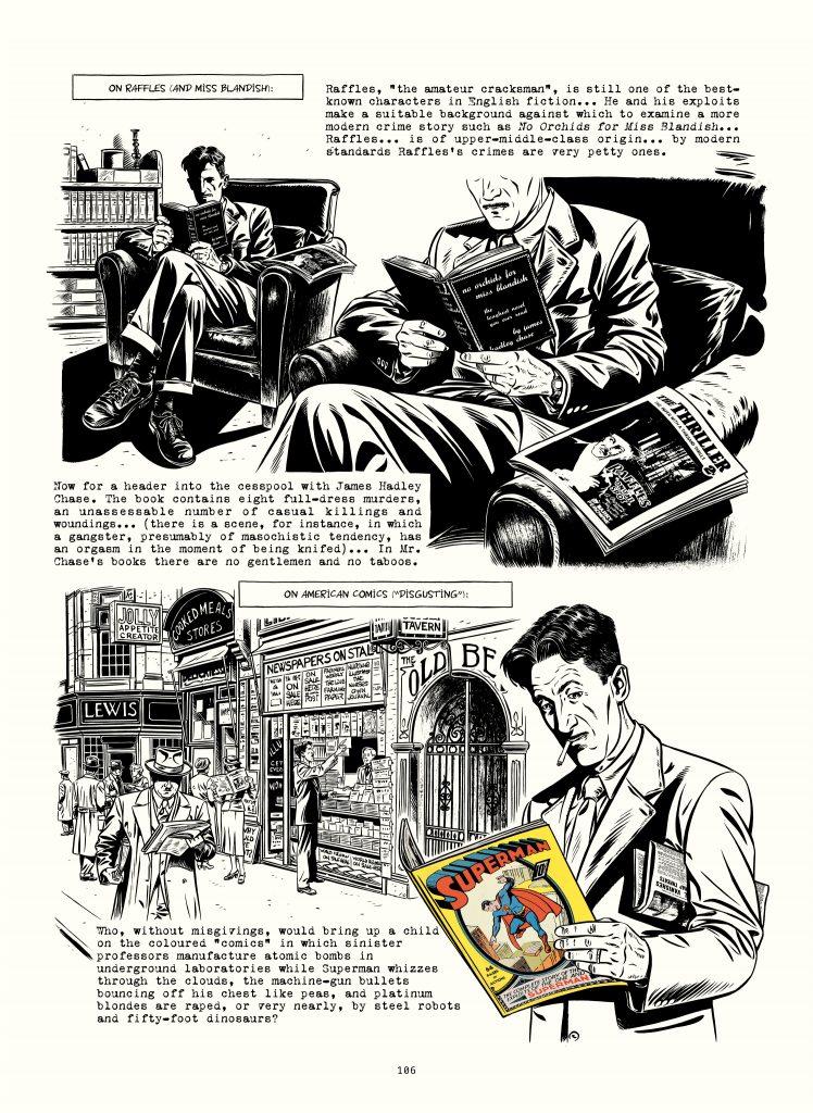 Figure 8.  ORWELL p. 106. Orwell reading an American Superman comic.